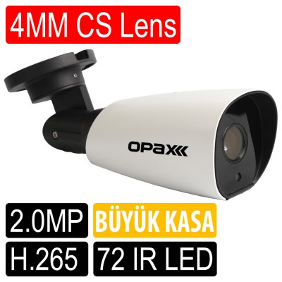 OPAX-25307 2 MP SONY IMX307 1080P 4MM 72 IR LED H.265 LOW STREAM SMART IP KAMERA